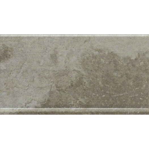 "Shaw Floors Metropolitan Slate 12"" x 6"" Cove Base Tile Trim in Luna Park"