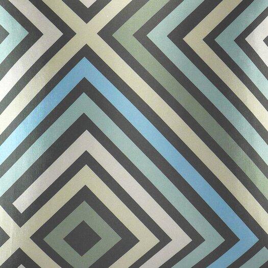 NECTARmodern Maze Graphic Zig Zag Throw Pillow