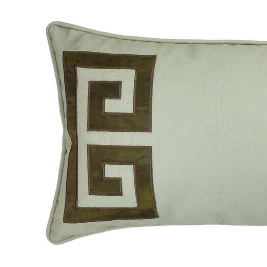 NECTARmodern Parenthetikey Embroidered Greek Key Lumbar Throw Pillow