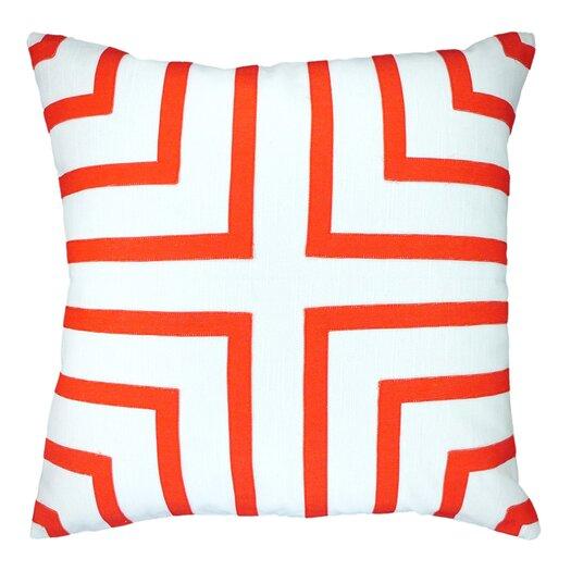NECTARmodern Foursquare Hand-Sewn Applique Throw Pillow