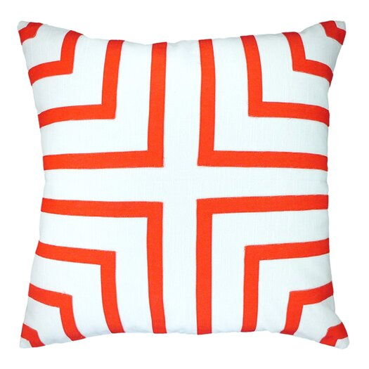 Foursquare Hand-Sewn Applique Throw Pillow
