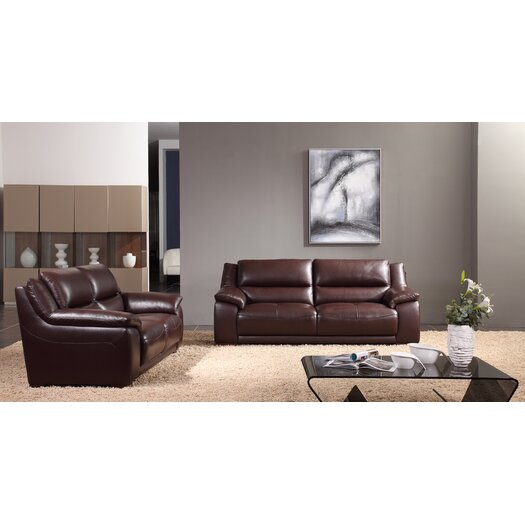 Creative Furniture Leroy Leather Loveseat
