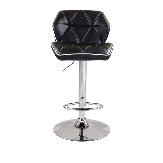 Diamond Adjustable Height Swivel Bar Stool with Cushion