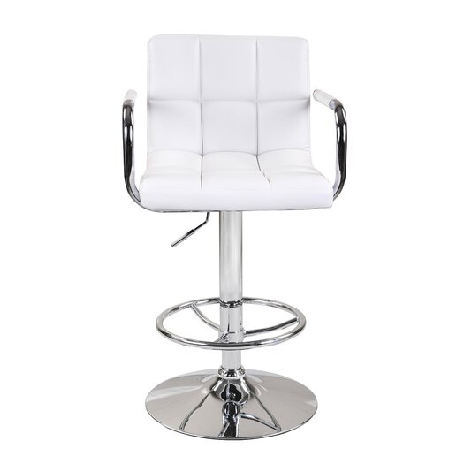 Alice Adjustable Height Swivel Bar Stool with Cushion