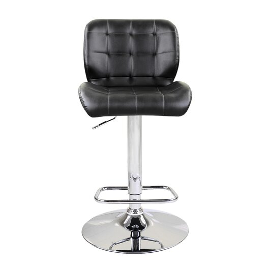 Dallas Adjustable Height Swivel Bar Stool with Cushion