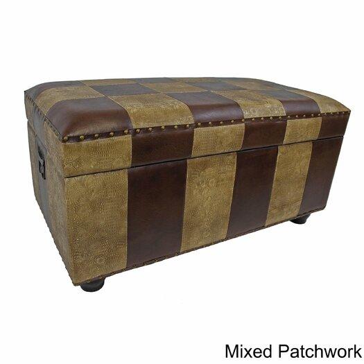 International Caravan Faux Leather Bedroom Storage Trunk/Bench