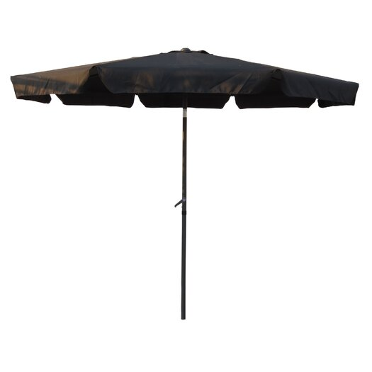International Caravan St. Kitts 10-Foot Aluminum Patio Umbrella with Crank/Tilt