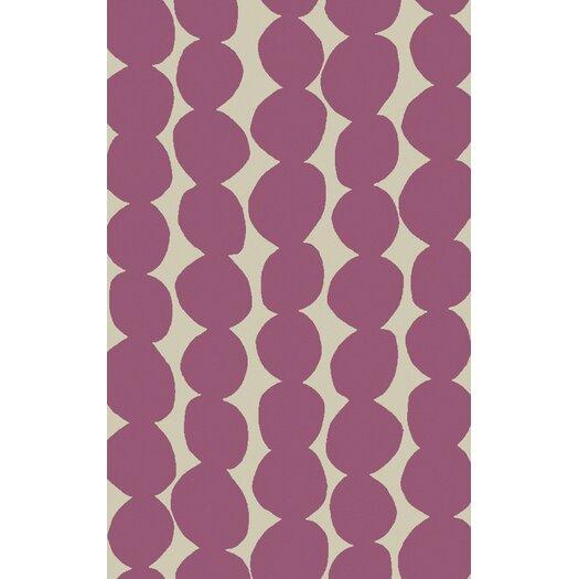 Carnation/Light Gray Geometric Rug