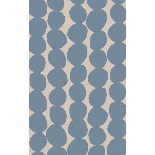 Sky Blue/Ivory Geometric Area Rug