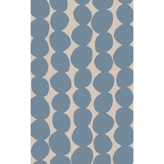 Sky Blue/Light Gray Geometric Area Rug