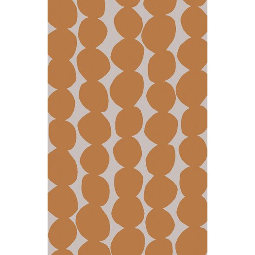 Burnt Orange/Light Gray Geometric Area Rug