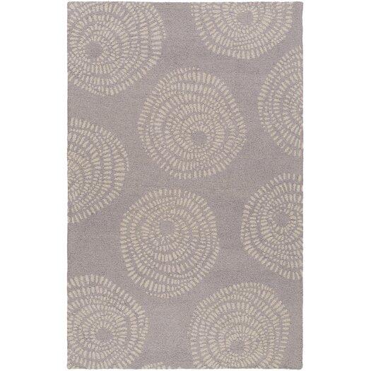 Decorativa Charcoal/Beige Floral Rug
