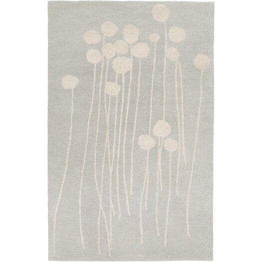 Decorativa Slate/Light Gray Floral Rug