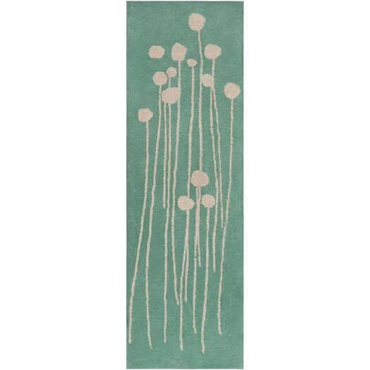 Decorativa Green/Light Gray Floral Rug