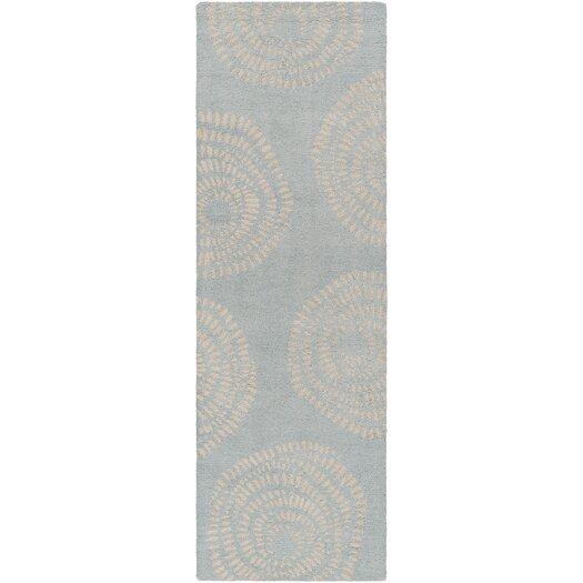 Decorativa Blue/Light Gray Floral Rug