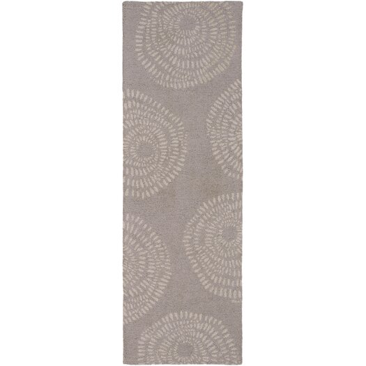 Decorativa Taupe/Light Gray Floral Rug