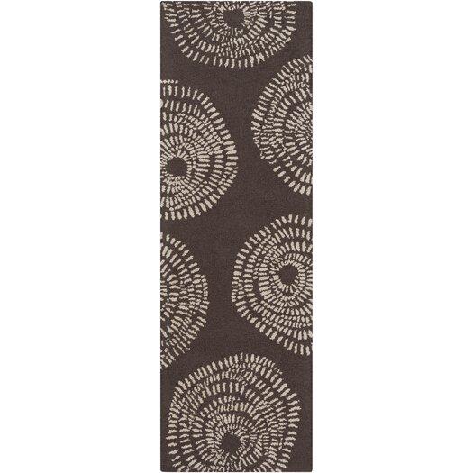 Decorativa Brown/Beige Floral Area Rug