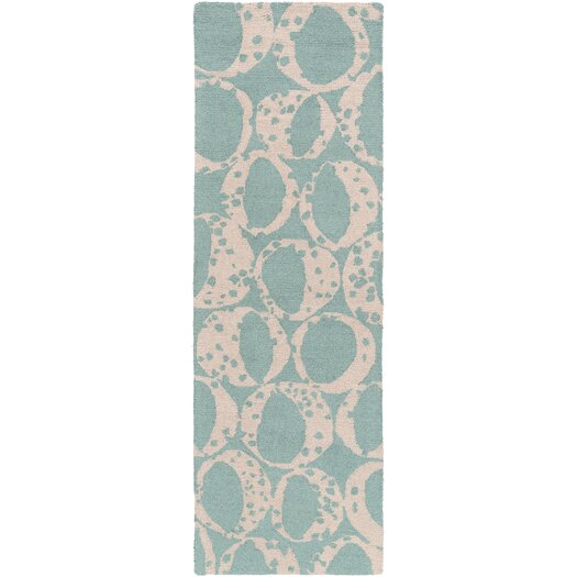 Decorativa Teal/Light Gray Rug