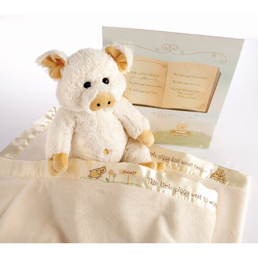 "Baby Aspen ""Pig in a Blanket"" 2 Piece Gift Set"
