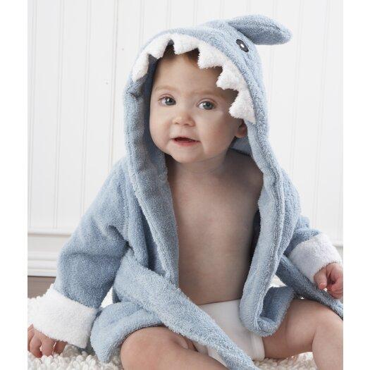 "Baby Aspen ""Let the Fin Begin"" Terry Shark Robe"