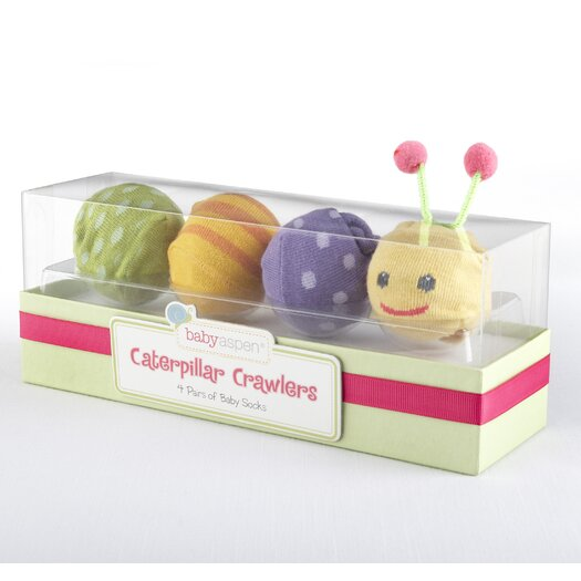 "Baby Aspen ""Caterpillar Crawlers"" Baby Socks Gift Set"