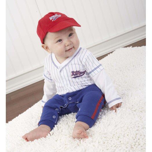 "Baby Aspen ""Big Dreamzzz"" Baby Baseball 3 Piece Layette Set"