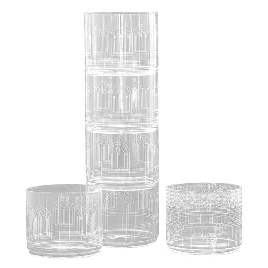 Seletti Palace Chiara Torre 6 Piece Glass Set