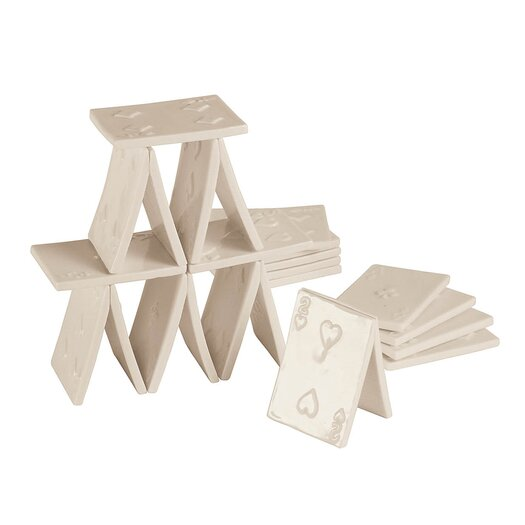 Seletti Memorabilia 3 Piece Porcelain My House of Cards Figurine Set