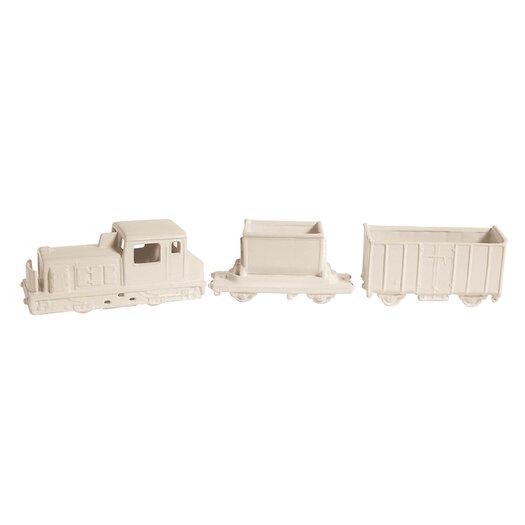 Seletti Memorabilia 3 Piece Porcelain My Train Sculpture Set
