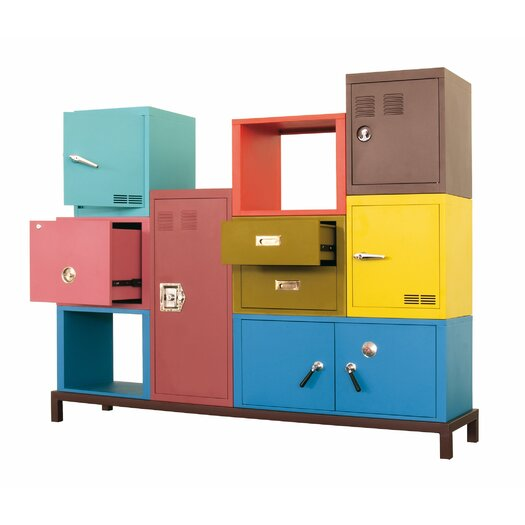 """Seletti Stack 15.8"""" Metal 1 Door Cabinet"""