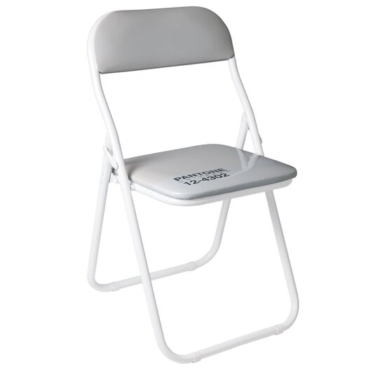 Pantone� 12-4302 Metal Folding Chair