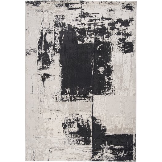 Muse by HTL Charcoal Brush Rug