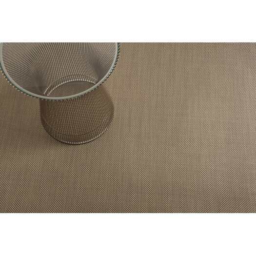 Chilewich Basketweave Floor Mat Beige Area Rug