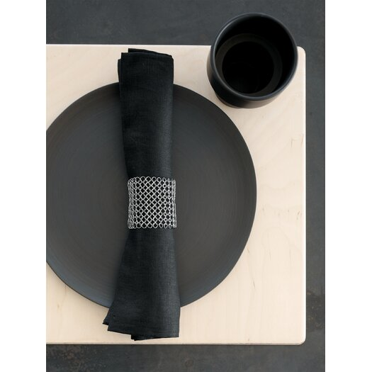 Chilewich Raymaille Stainless Steel Mesh Napkin Rings