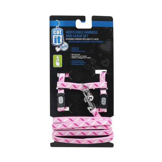 Catit by Hagen Catit Style Adjustable Cat Harness and Leash Set in Ribbon