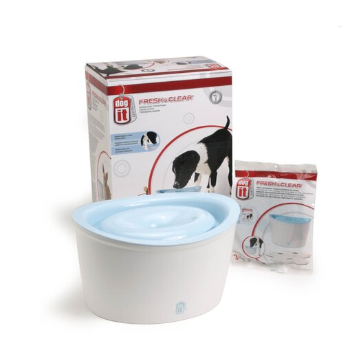 Dogit by Hagen Dogit Fresh & Clear Fountain with 1 Replacement Cartridges