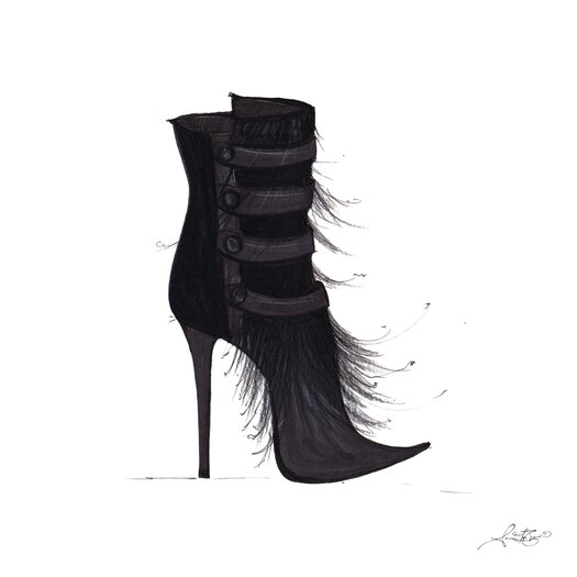 Bootie Painting Print on Canvas