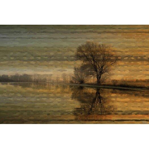 Tree Sunset Painting Prints on Canvas