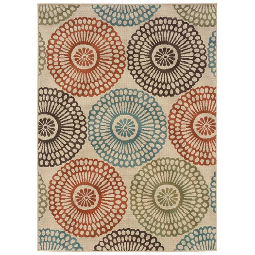 Oriental Weavers Rio Ivory Multi Indoor & Outdoor Rug