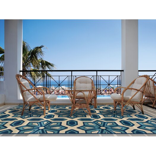 Oriental Weavers Shelton Ivory & Blue Indoor/Outdoor Area Rug