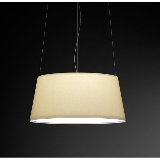 Vibia Warm Medium Pendant with Off White Shade