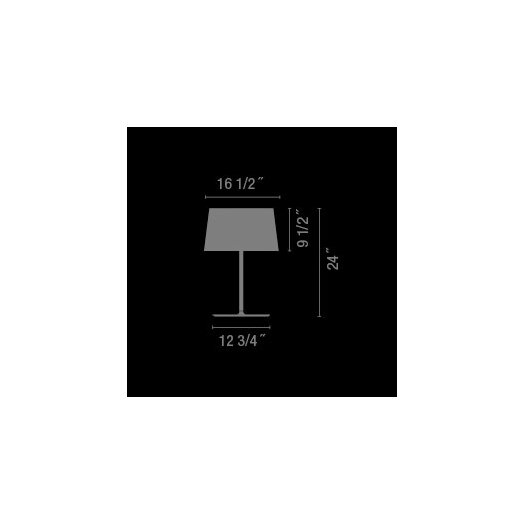"""Vibia Warm 24"""" H Table Lamp with Empire Shade"""