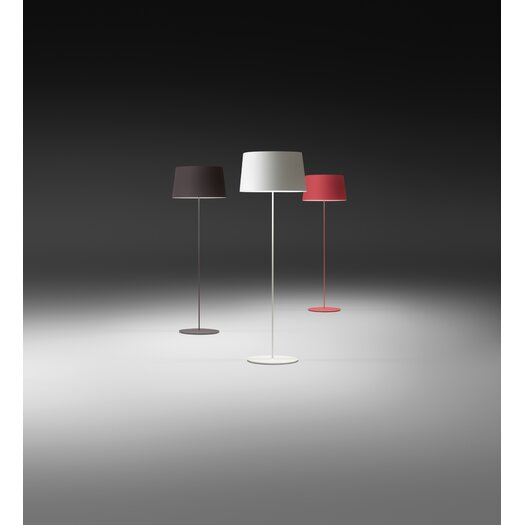 Vibia Warm Floor Lamp with Aluminum Shade