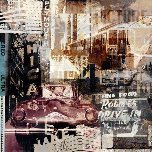 Swinging Chicago 1 Graphic Art Plaque