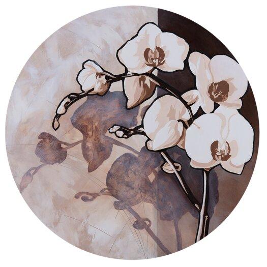 White on Brown Graphic Circular Art