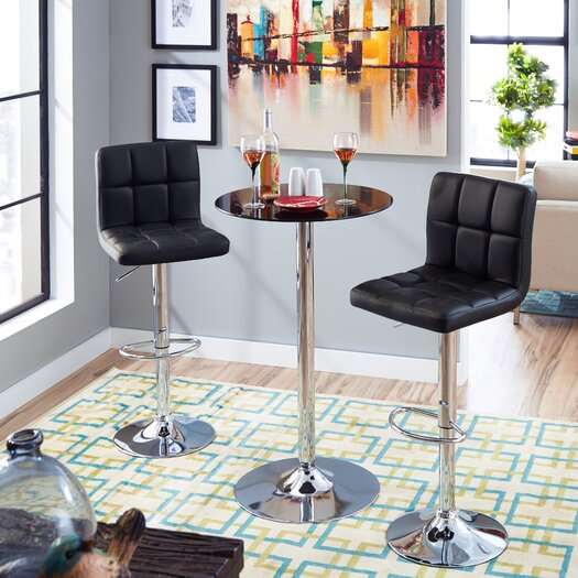 Zipcode Design Savannah Adjustable Height High-Back Bar Stool