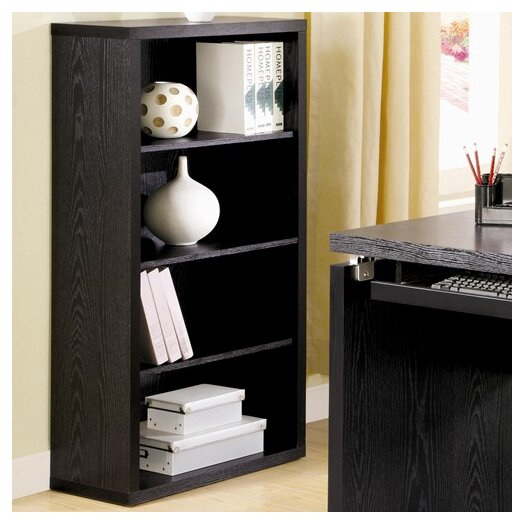 Wildon Home ® Cascade Bookcase in Black