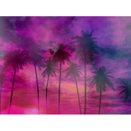 Palm Springs Sunset Graphic Art