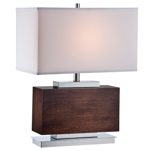 Lite Source Firminio Table Lamp with Rectangle Shade