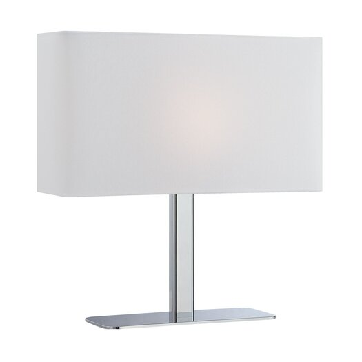 Lite Source Levon 15'' H Table Lamp with Rectangle Shade